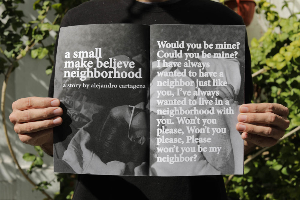 A small make believe neighborhood Book by Alejandro Cartagena, Published 2017 by Visual Studies Press